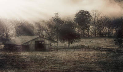 Morning In Boxley Valley Print by Jonas Wingfield