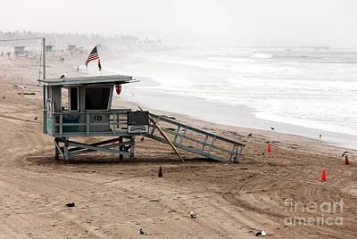 Morning In Santa Monica Print by John Rizzuto