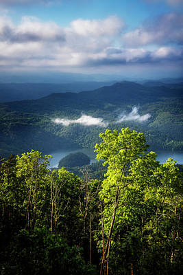 Morning In The Blue Ridge Mountains Print by Debra and Dave Vanderlaan