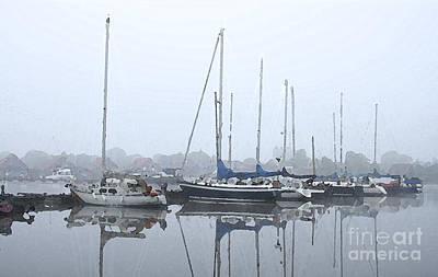 Morning In The Harbor Print by Stefan Kuhn