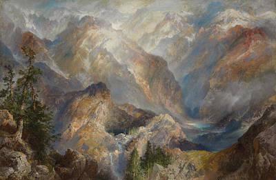 Morning In The Sierras Print by Thomas Moran