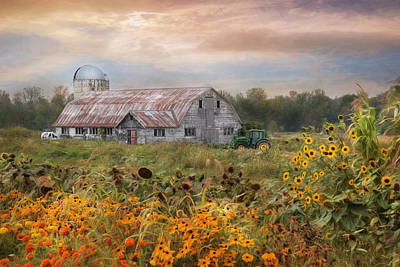 Rural Scenes Mixed Media - Morning In Vermont by Lori Deiter