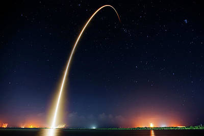 Morning Launch From Cape Canaveral Print by Mountain Dreams