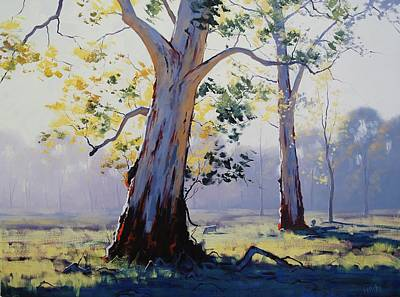 Realist Painting - Morning Light Eucalypt by Graham Gercken