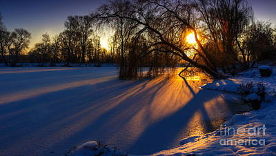 Snow Digital Art - Morning Light by Franziskus Pfleghart