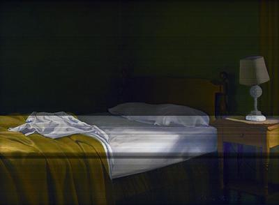 Interior Morning Painting - Morning Light by Linda Tenukas