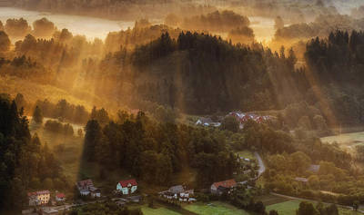 Morning Light Print by Piotr Krol (bax)