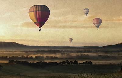 Morning Mist Balloon Ride Print by Movie Poster Prints