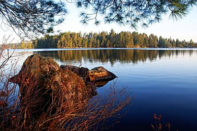 Landscape Photograph - Morning On Chad Lake 2 by Larry Ricker