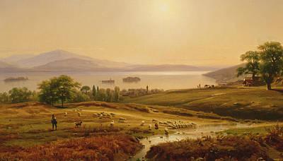Sunlit Tree Painting - Morning On Lake Maggiore by Thomas Worthington Whittredge