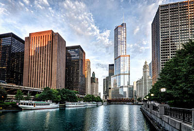 Landscape Photograph - Morning On The Chicago River by Matt Hammerstein
