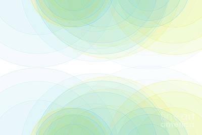 Digital Art - Morning Semi Circle Background Horizontal by Frank Ramspott