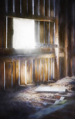 Morning Sun In The Barn Print by Scott Norris