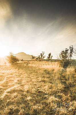 Pasture Scenes Photograph - Morning Tasmanian Fog Landscape by Jorgo Photography - Wall Art Gallery