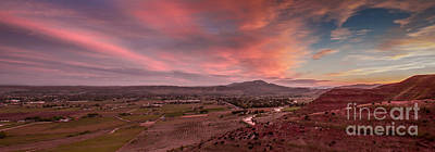 Morning View Over Emmett Valley Print by Robert Bales