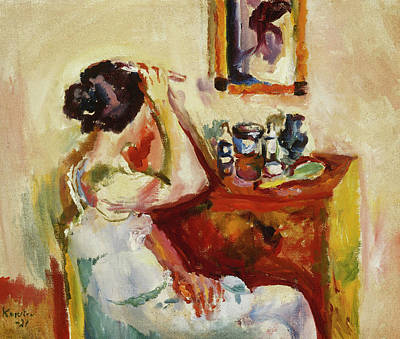 Dressing Room Painting - Morning Wash by Ludwig Karsten