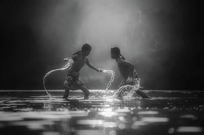 Boys Boxing Photograph - Morning Workout by Sasin Tipchai