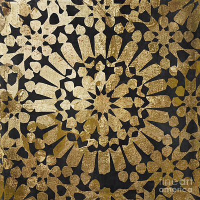 Moroccan Gold Iv Print by Mindy Sommers