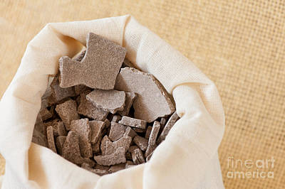 Moroccan Lava Clay Dried Chips Print by Arletta Cwalina