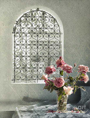 Window Digital Art - Moroccan Rose by Linde Townsend
