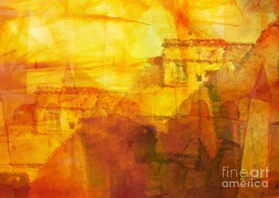 Camel Digital Art - Morocco Impression by Lutz Baar