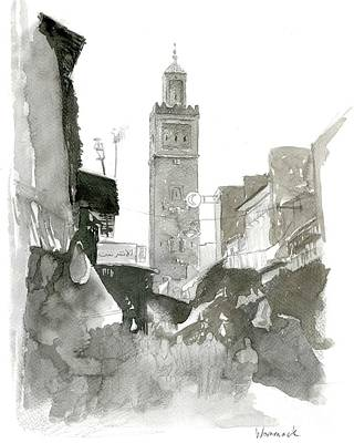 Morocco Painting - Morocco Watercolor by Jonathan Wommack