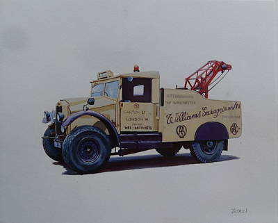 Morris Painting - Morris Commercial Wrecker. by Mike Jeffries