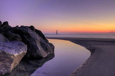 Morris Island Lighthouse Before Sunrise Print by Dustin K Ryan