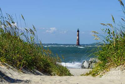 Morris Island Lighthouse Walkway Print by Jennifer White