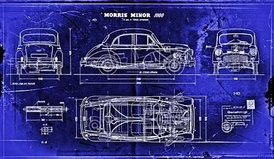 Morris Minor Car Original by Joseph Hawkins