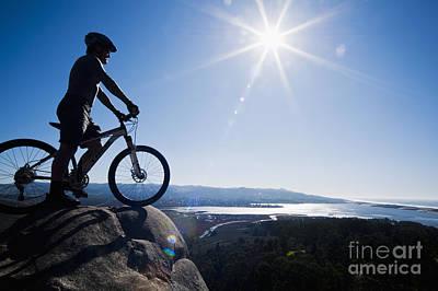 Morro Bay Biker Print by Bill Brennan - Printscapes