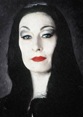Poster Painting - Morticia Addams  by Taylan Soyturk