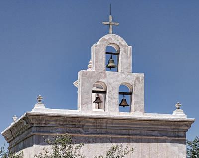 Mortuary Chapel Bells - Mission San Xavier Del Bac - Tucson Arizona Print by Jon Berghoff