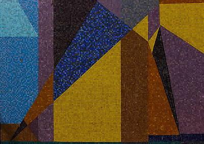 Mosaic Tesserae Tiles Photograph - Mosaic 1 by Jeff Townsend