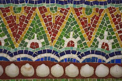 Getty Photograph - Mosaic Fountain Pattern Detail 4 by Teresa Mucha