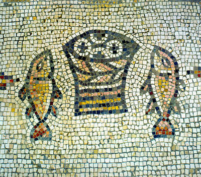 Parable Photograph - Mosaic Of Loaves And Fishes by Daniel Blatt