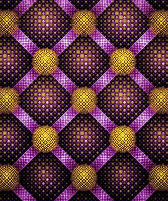 Room Digital Art - Mosaic - Purple And Yellow by Anastasiya Malakhova