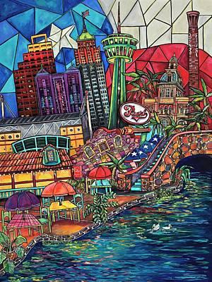Mosaic River Original by Patti Schermerhorn