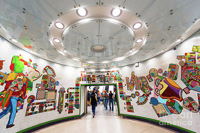 London Tube Mixed Media - Mosaic Station by Svetlana Sewell