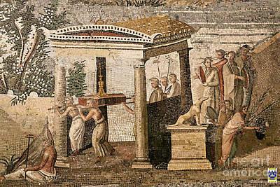 Mosaico Photograph - Mosaico Del Nilo  by Casavecchia Photo Art