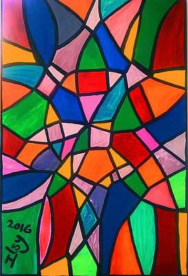 Mosaico Painting - Mosaico by Ilsy Bu-Orellana