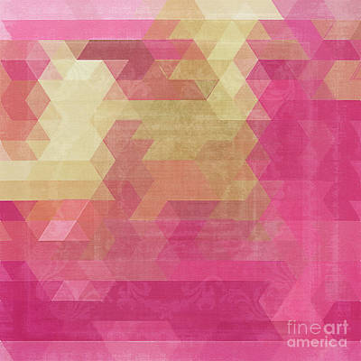 Rose Gold Painting - Mosaico by Mindy Sommers