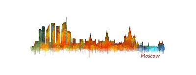 Moscow Skyline Digital Art - Moscow City Skyline Hq V2 by HQ Photo
