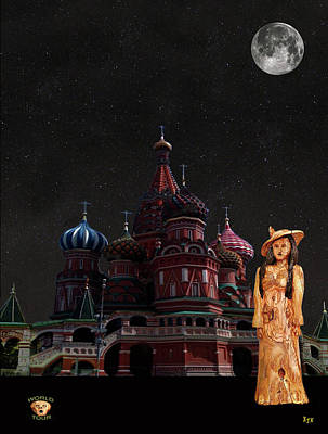 Moscow Mixed Media - Moscow Fashion by Eric Kempson
