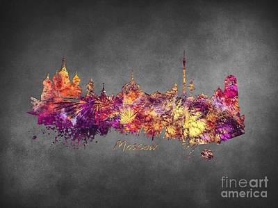 Moscow Skyline Digital Art - Moscow by Justyna JBJart