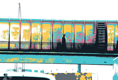 Candid Mixed Media - Moscow Overpass by Shay Culligan