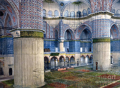 Mosque Of Sultan Ahmet I Print by Celestial Images