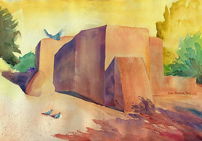 Ressler Painting - Most Painted Church In New Mexico by John Ressler