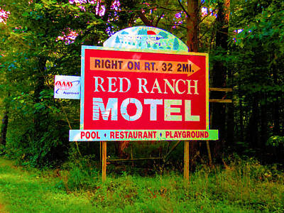 Motel Sign Print by Lanjee Chee