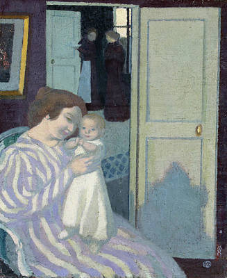 Child Painting - Mother And Child by Maurice Denis